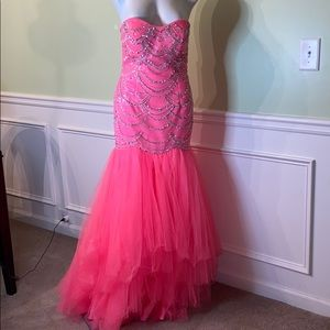 Sparkle glitz pageant pink Tull gown dress